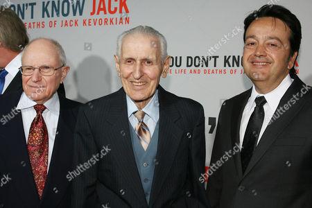 Mark Morganroth, Dr Jack Kevorkian and Len Amato