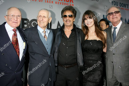 Mark Morgenroth, Dr Jack Kevorkian, Al Pacino, girlfriend Lucila Polak Sola and  Barry Levinson
