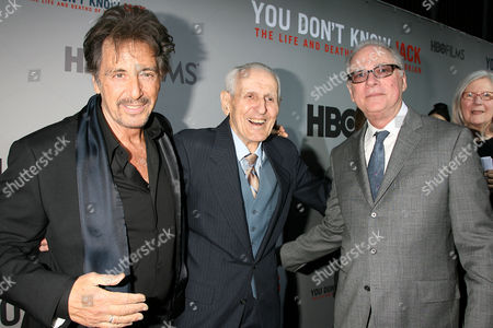 Al Pacino, Dr Jack Kevorkian and Barry Levinson (Director and E