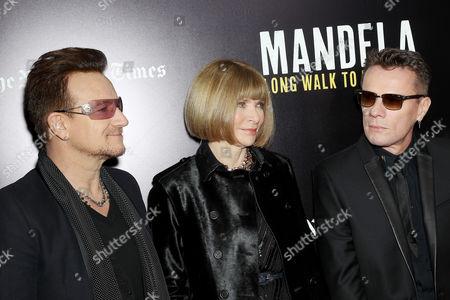 Bono, Anna Wintour, Larry Mullen Jnr.