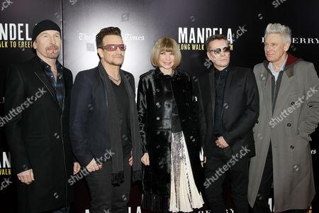 The Edge, Bono, Anna Wintour, Larry Mullen Jnr, Adam Clayton