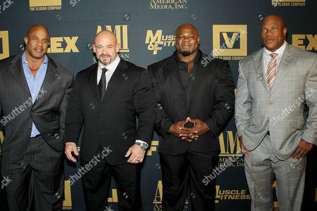 Victor Martinez, Branch Warren, Kai Greene, Phil Heath