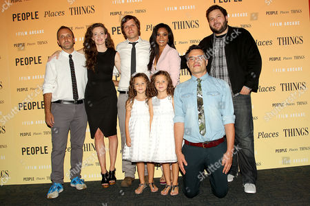 Producers Michael Clark and Alex Turtletaub with director Jim Strouse and the cast of 'People Places Things'