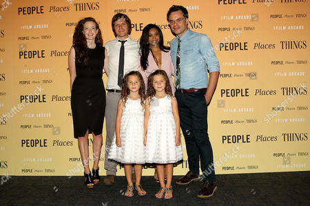 Stock Image of 'People Places Things' - cast with director Jim Strouse