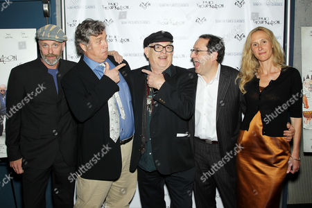 Charlie Paul (Director), Tom Bernard (Co-Pres. SPC), Ralph Steadman, Michael Barker (Co-Pres. SPC) and Lucy Paul (Producer)