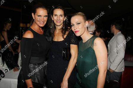 Brooke Shields, Lisa Immordino Vreeland and Natasha Bedingfield