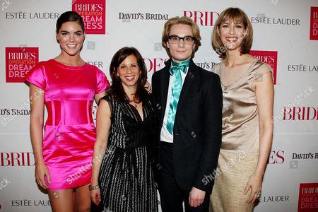 Hilary Rhoda, Alison Adler Matz (Publisher of Brides), Austin Scarlett and Millie Martini Bratten (Editor in Chief of Brides)