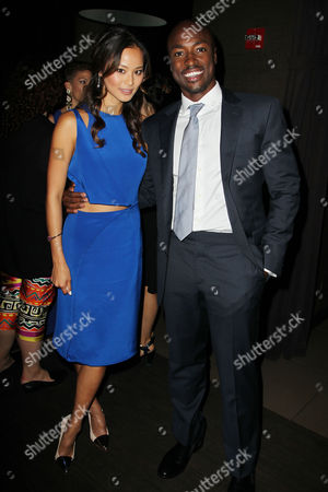 Jamie Chung and Wole Parks