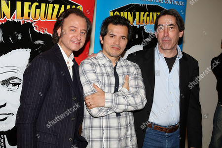 Stock Picture of Fisher Stevens (Director), John Leguizamo and Arnold Engelman  (Producer)
