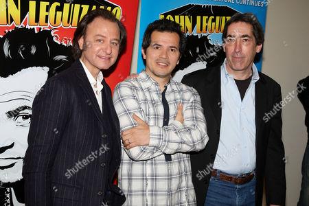 Stock Image of Fisher Stevens (Director), John Leguizamo and Arnold Engelman (Producer)