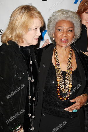 Angie Dickinson and Nichelle Nichols