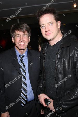 Larry Cox (Exec Director of Amnesty International) and Brendan Fraser