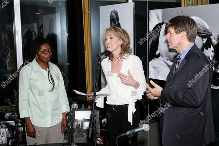 Irene Safi Turner, Deborah Feyerick of CNN and Larry Cox (Exec Director of Amnesty International)
