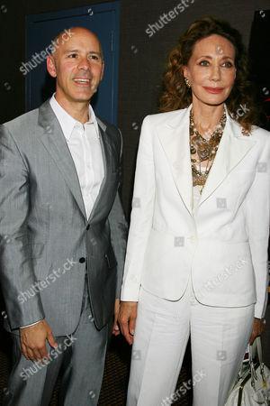 Stock Image of Marisa Berenson and David Kuhn