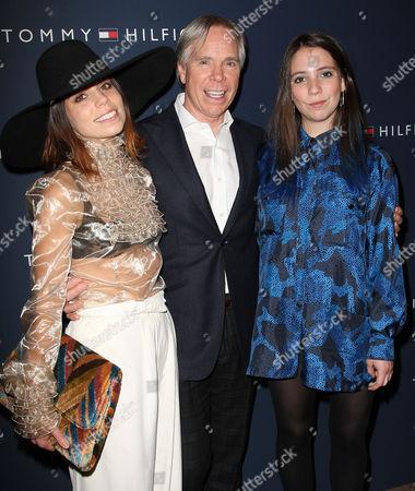 Ally Hilfiger, Tommy Hilfiger and Elizabeth Hilfiger