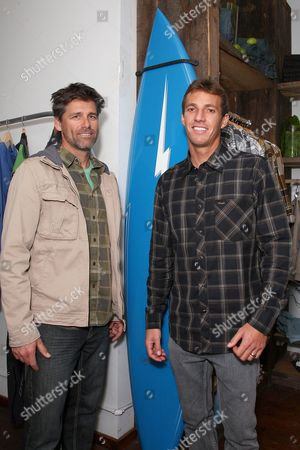 Steve Ward, VP Sales and Marketing for O'Neill US and Corey Lopez, Surfer/O'Neill Team Rider