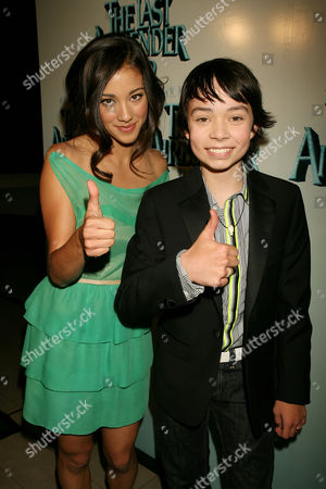 Stock Picture of Seychelle Gabriel and Noah Ringer