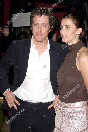 Hugh Grant and Rosario Saxe Coburg