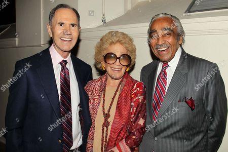 Freddie Gershon, Myrna Gershon and Charles Rangel