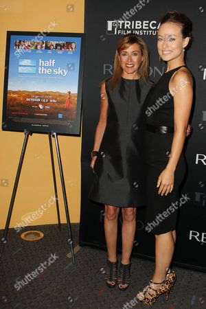 Julia Goldin and Olivia Wilde