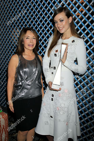 Stock Photo of Paula Wallace (President and Founder of Savannah Film Festival) and Olivia Wilde