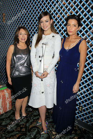Stock Picture of Paula Wallace (President and Founder of Savannah Film Festival), Olivia Wilde, Reed Morano