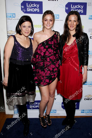 Gina Sanders, Publisher of Lucky, Leighton Meester and Kim France, editor-in-chief of Lucky