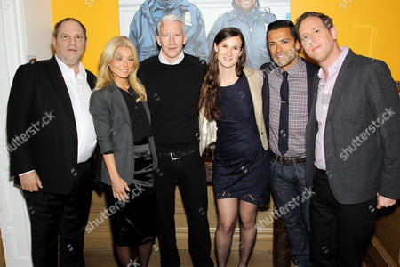 Harvey Weinstein, Kelly Ripa, Anderson Cooper, Cynthia Lowen, Director Lee Hirsch, Mark Consuelos