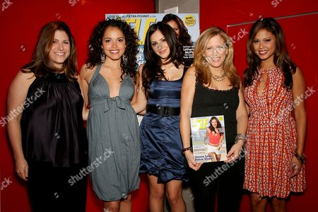 Kim Kelleher(VP/Publisher of SELF Magazine), Susie Castillo, Katharine McPhee, Lucy Danziger (Editor-in-Chief Self Magazine) and Vanessa Minnillo