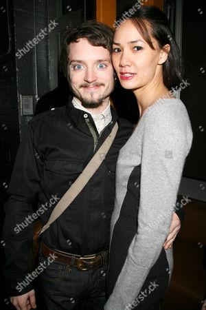 Elijah Wood with girlfriend Pamela Racine