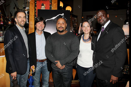 David McMahon, Ken Burns, Raymond Santana, Sarah Burns and Yusef Salaam