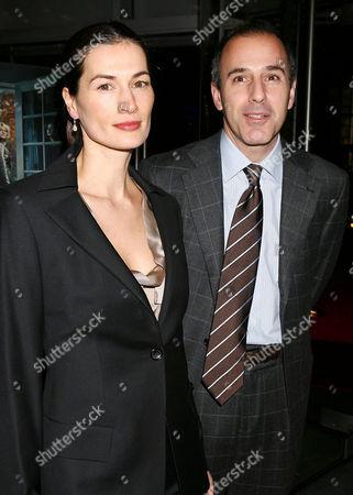 Matt Lauer and wife Annette Roque Lauer