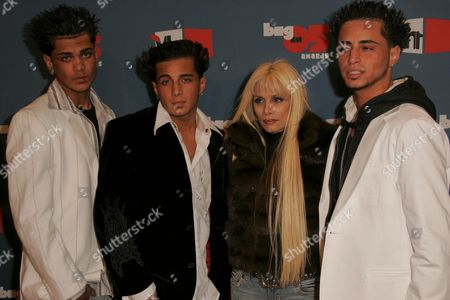 Victoria Gotti and her sons Frank, John, and Carmine