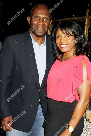 Harry Carson and wife