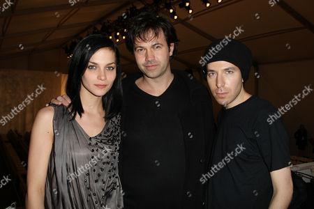 Greg Krelenstein and Leigh Lezark of the Misshapes with Tony Cohen