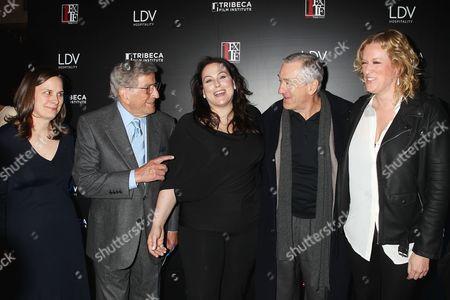 Beth Jansen, Tony Bennett, Johanna Bennett, Robert De Niro and Mandy Ward