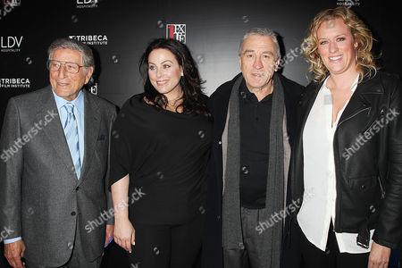 Tony Bennett, Johanna Bennett, Robert De Niro and Mandy Ward