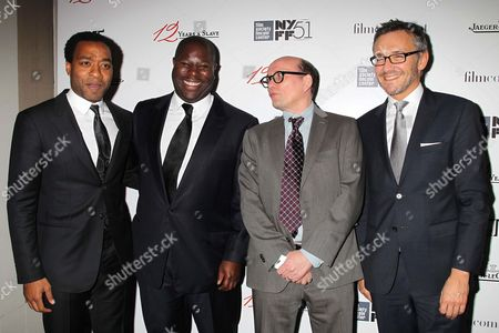Stock Image of Chiwetel Ejiofor, Steve McQueen, Gavin Smith and Laurent Viney
