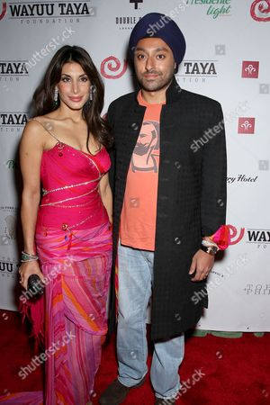 Vikram Chatwal and wife
