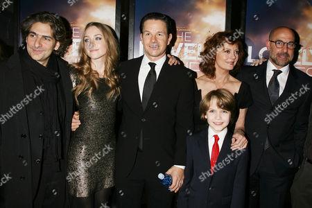 Michael Imperioli, Saoirse Ronan, Mark Wahlberg, Susan Sarandon, Christian Ashdale and Stanley Tucci