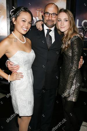 Nikki SooHoo, Stanley Tucci and Saoirse Ronan