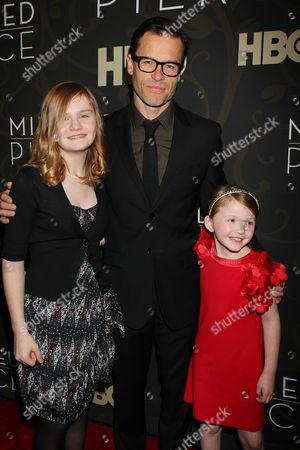 Guy Pearce with Quinn McColgan and Morgan Turner