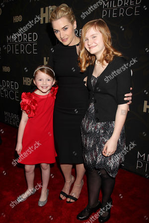 Stock Image of Kate Winslet with Quinn McColgan and Morgan Turner