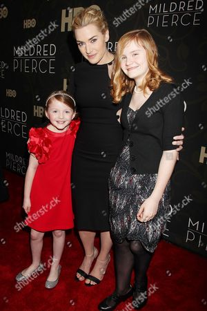 Stock Photo of Kate Winslet with Morgan Turner and Quinn McColgan