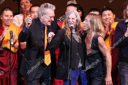 Robert Thurman, Patti Smith and Iggy Pop