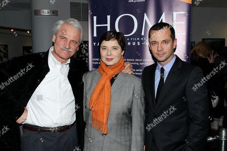 Stock Picture of Isabella Rossellini, Yann Arthus-Bertrand (Director), Laurent Claquin (PPR Group)