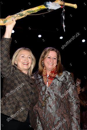 Hillary Clinton and Abigail E. Disney