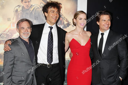 Erwin Stoff (Producer), Doug Liman (Director), Emily Blunt and Tom Cruise