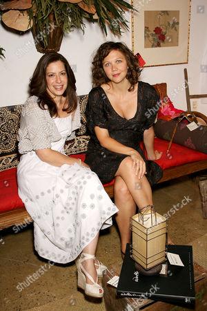 Deborah Needleman (Editor in Chief of Domino) and Maggie Gyllenhaal