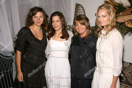 Maggie Gyllenhaal, Deborah Needleman (Editor in Chief of Domino), Milly de Cabrol, Laura Dupont